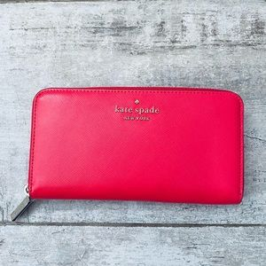 Kate Spade DIGITAL RED Large continental wallet